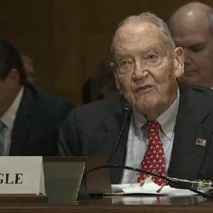 Vanguard's John Bogle makes his case for improving 401k plans. Here's why his Senate testimony rocks.