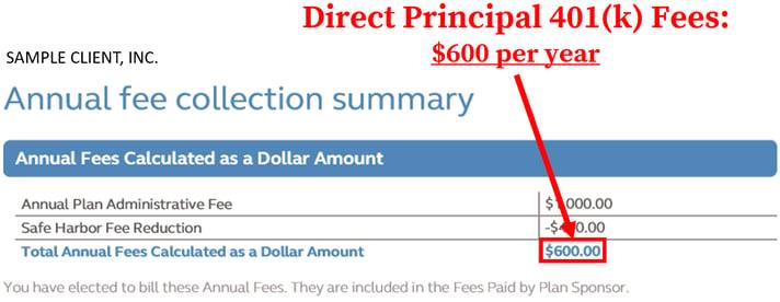 Principal 401k Fees_Direct Fees