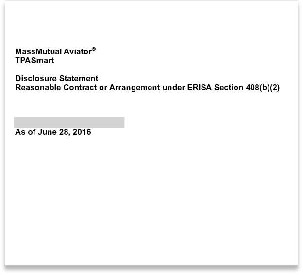 MassMutual Disclosure Statement
