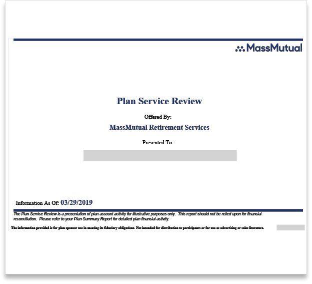 MassMutual Plan Service Review