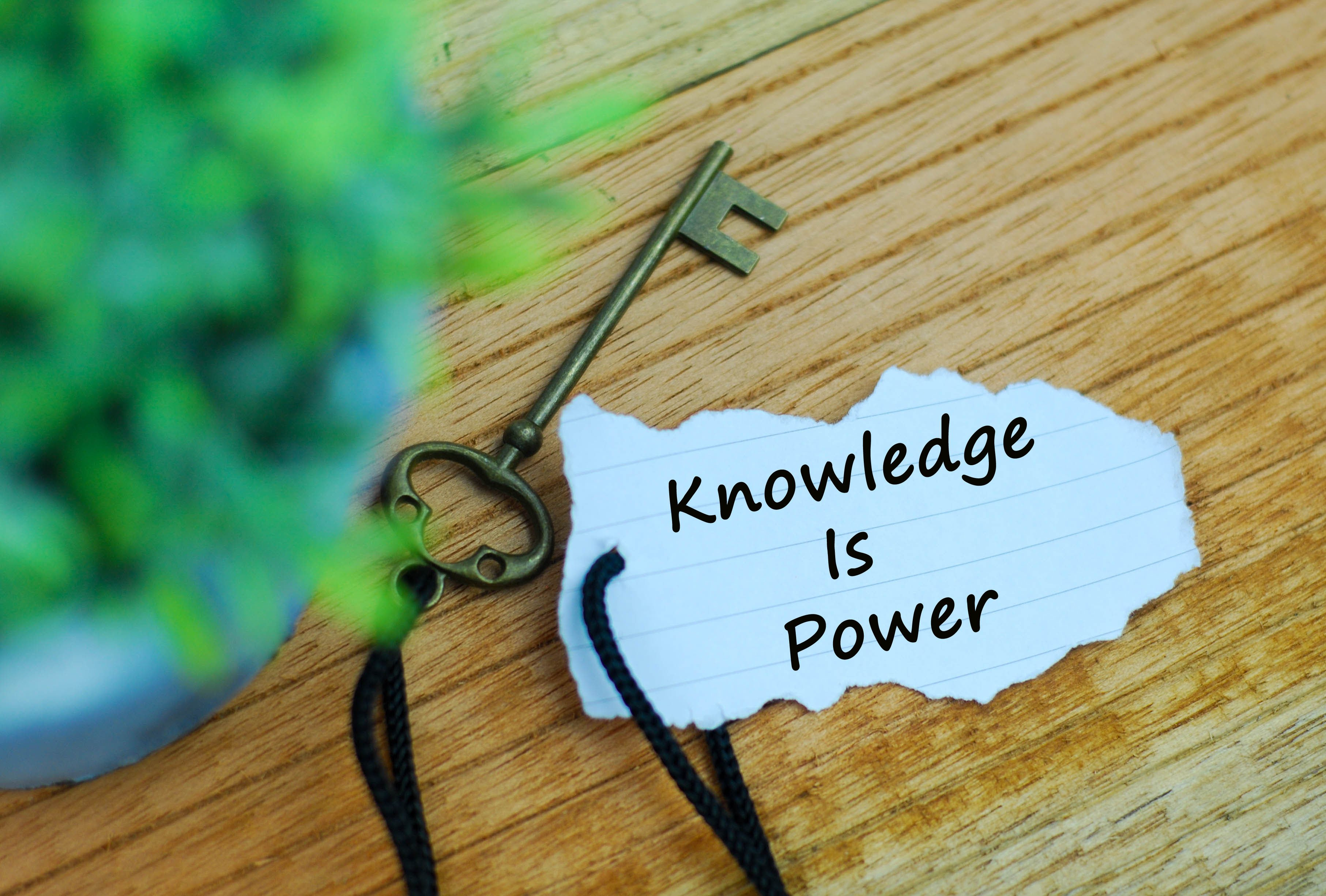 knowledge is power with key